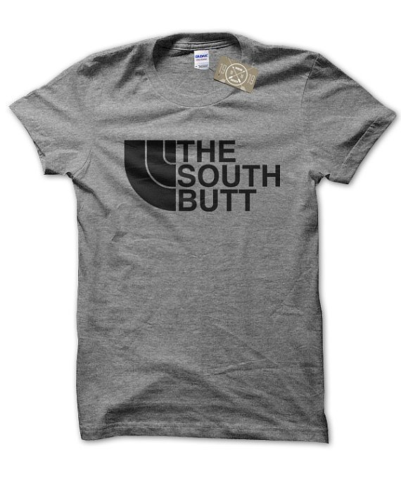 The South Butt North Face inspired t-shirt by Clique Wear