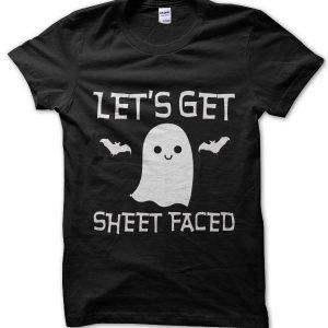 Let's Get Sheet Faced Halloween T-Shirt