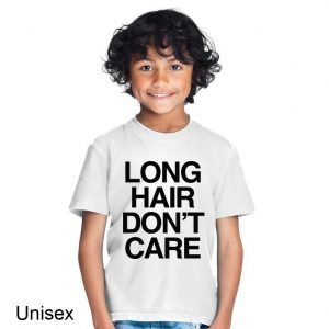 Long Hair Don't Care Children's T-shirt