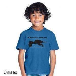 T-Rex Hates Pushups Children's T-shirt