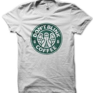Doctor Who Don't Blink Coffee T-Shirt