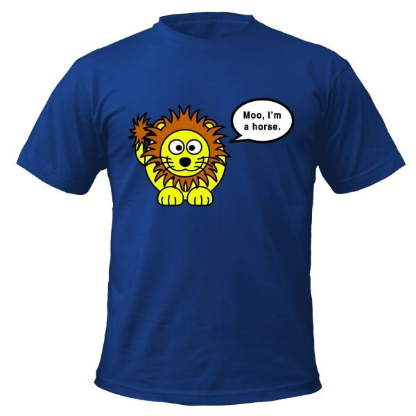 Lion says moo t-shirt by Clique Wear