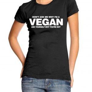 Don't Ask Why I'm a Vegan Womens T-shirt