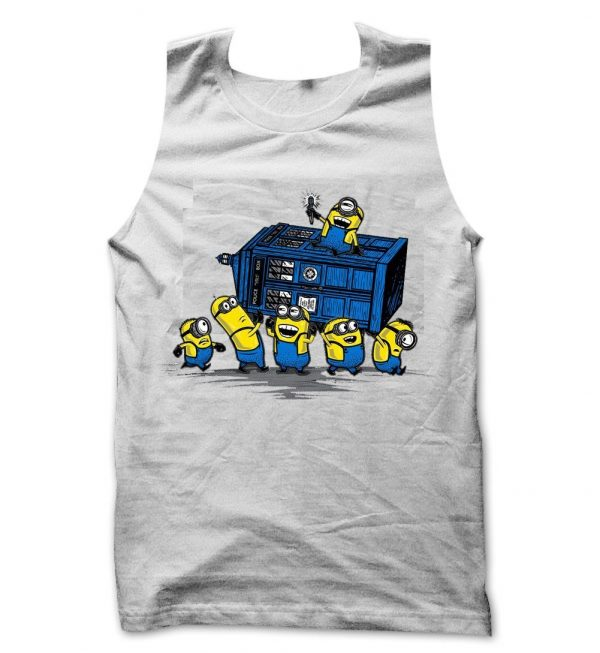 Minions at the Tardis tank top / vest by Clique Wear