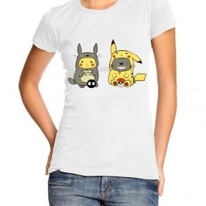 Pikachu Totoro Womens T-shirt