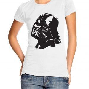 Pug Vader Womens T-shirt