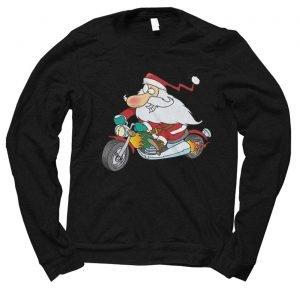 Santa Biker Christmas jumper (sweatshirt)