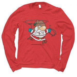 Santa Cowboy Christmas jumper (sweatshirt)