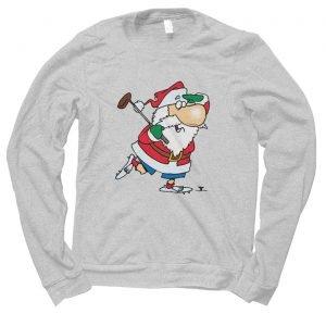 Santa Golfing Christmas jumper (sweatshirt)