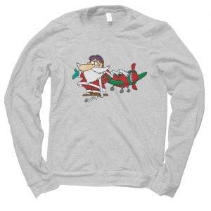 Santa Pilot Plane Christmas jumper (sweatshirt)