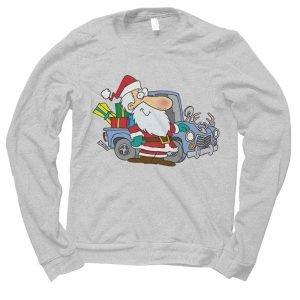 Santa Redneck Car Christmas jumper (sweatshirt)