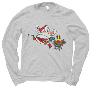 Santa Shopping Christmas jumper (sweatshirt)