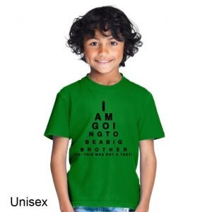 I am Going to Be a Big Brother Eye Test Children's T-shirt