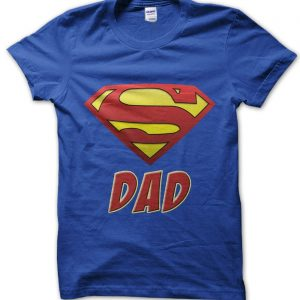 Super Dad Superman logo T-Shirt