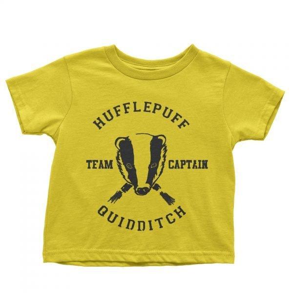 Hufflepuff team captain t-shirt by Clique Wear
