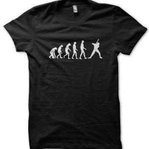 Evolution of a Baseball Player T-Shirt