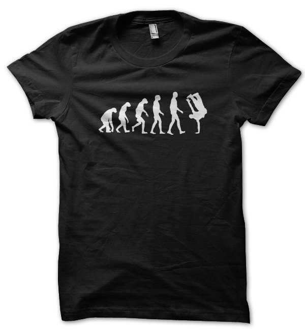 Evolution of a Breakdancer t-shirt by Clique Wear