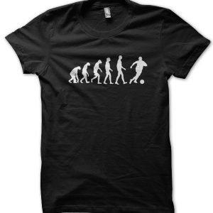 Evolution of a Footballer T-Shirt