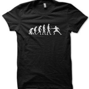 Evolution of a Pingpong Player T-Shirt