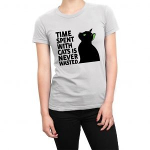 Time Spent With Cats Is Never Wasted women's t-shirt