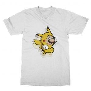 Mario Pikachu Jumping T-Shirt