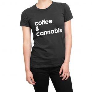 Coffee and Cannabis women's t-shirt