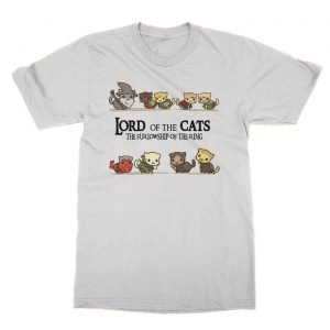 Lord of the Cats The Furlowship of the Ring t-Shirt
