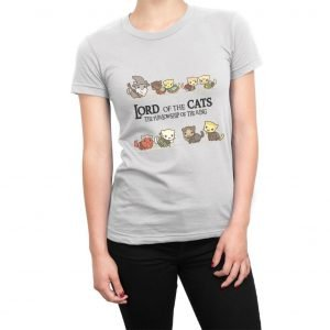 Lord of the Cats The Furlowship of the Ring women's t-shirt