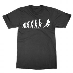 Evolution of a Rugby Player T-Shirt