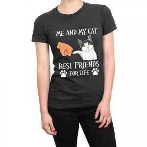 Me and My Cat Best Friends For Life women's t-shirt
