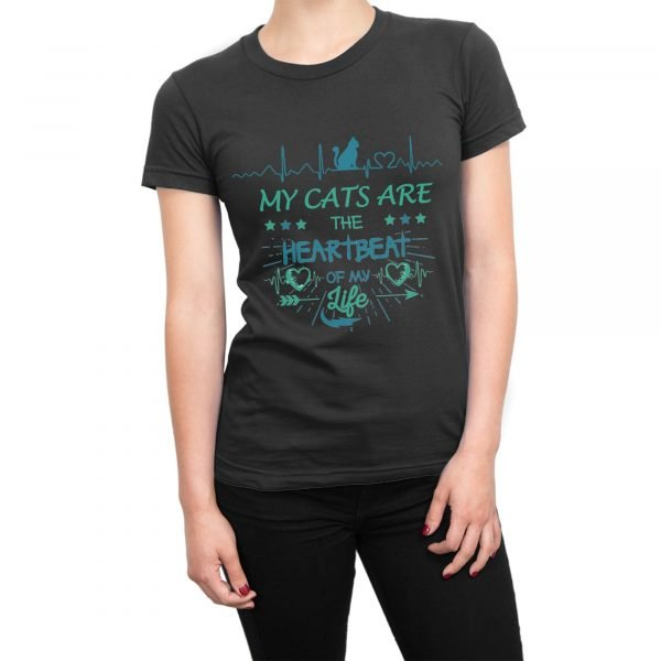 My Cats are the Heartbeat of my Life t-shirt by Clique Wear