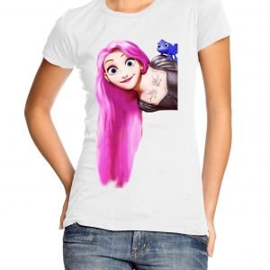 Punk Rapunsel Womens T-shirt