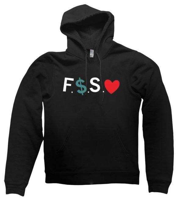 Fuck Money Spread Love hoodie by Clique Wear