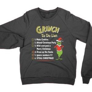 Grinch To Do List jumper (sweatshirt)