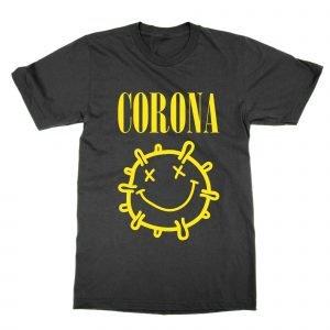 Corona Nirvana coronavirus parody logo T-Shirt