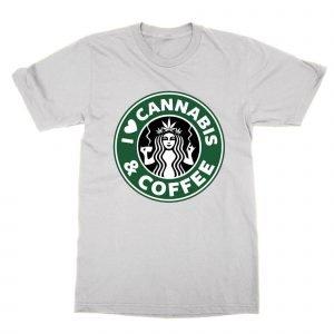 I Love Cannabis and Coffee T-Shirt
