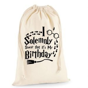 I Solemnly Swear It's My Birthday Christmas Sack