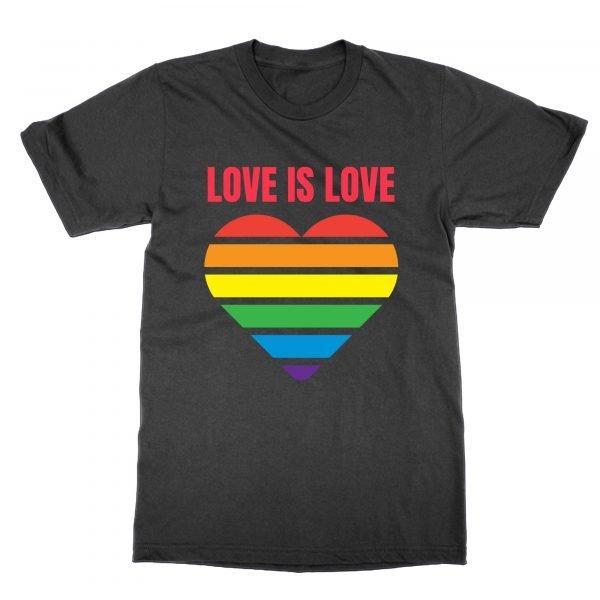 Love is Love Heart LGBT t-shirt by Clique Wear