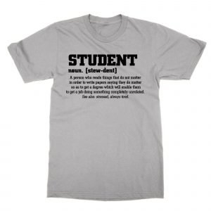 Student definition t-shirt by Clique Wear