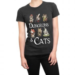 Dungeons and Cats women's t-shirt