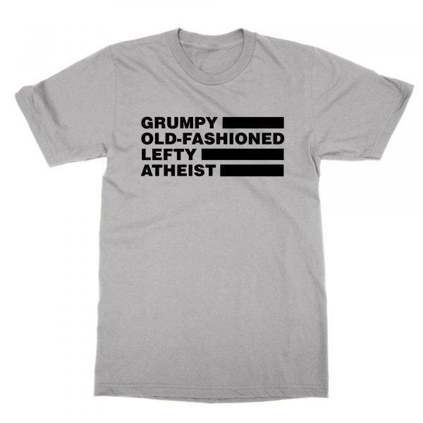 Grumpy Old Fashioned Lefty Atheist t-shirt by Clique Wear