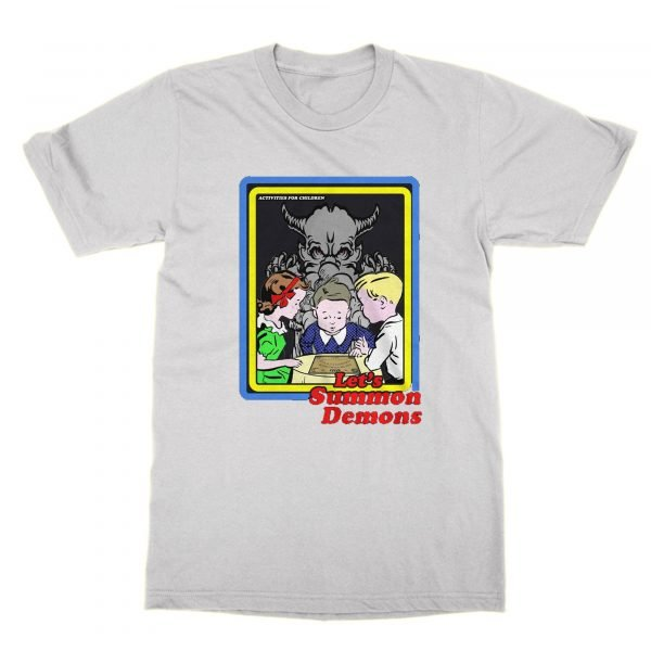 Let's Summon Demons Funny Retro t-shirt by Clique Wear