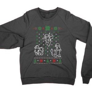 Pocket Monster pokemon Christmas Ugly Sweater jumper (sweatshirt)