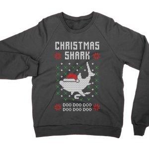 Shark Doo Doo Doo Christmas Ugly Sweater jumper (sweatshirt)