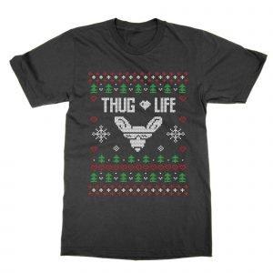 Thug Life Christmas Ugly Sweater T-Shirt