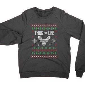 Thug Life Christmas Ugly Sweater jumper (sweatshirt)
