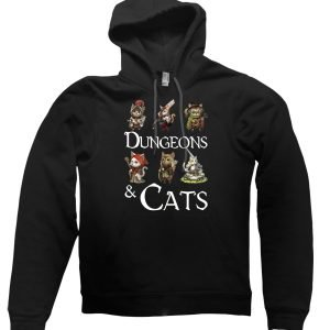 Dungeons and Cats hoodie by Clique Wear